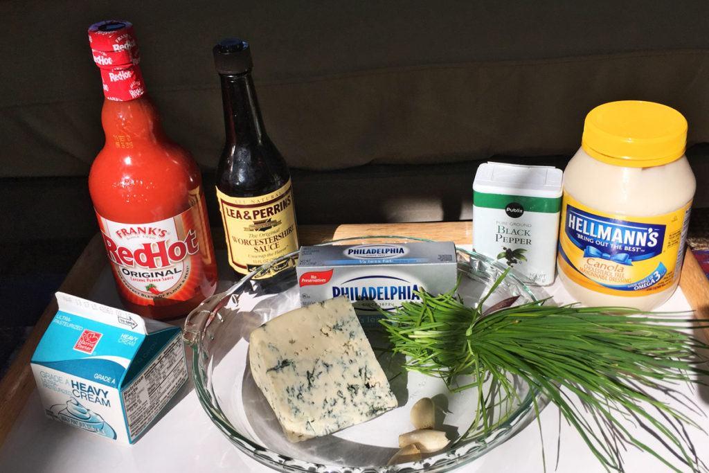 Spicy Molten Blue Cheese Dip