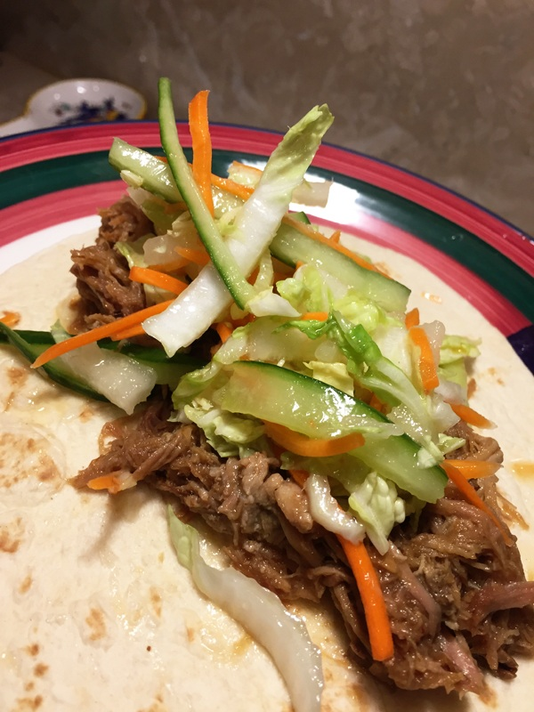 Vaguely Vietnamese Pork Taco with Slaw