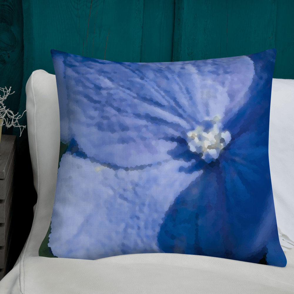 Muted Blue Hydrangea Decorative Throw Pillow