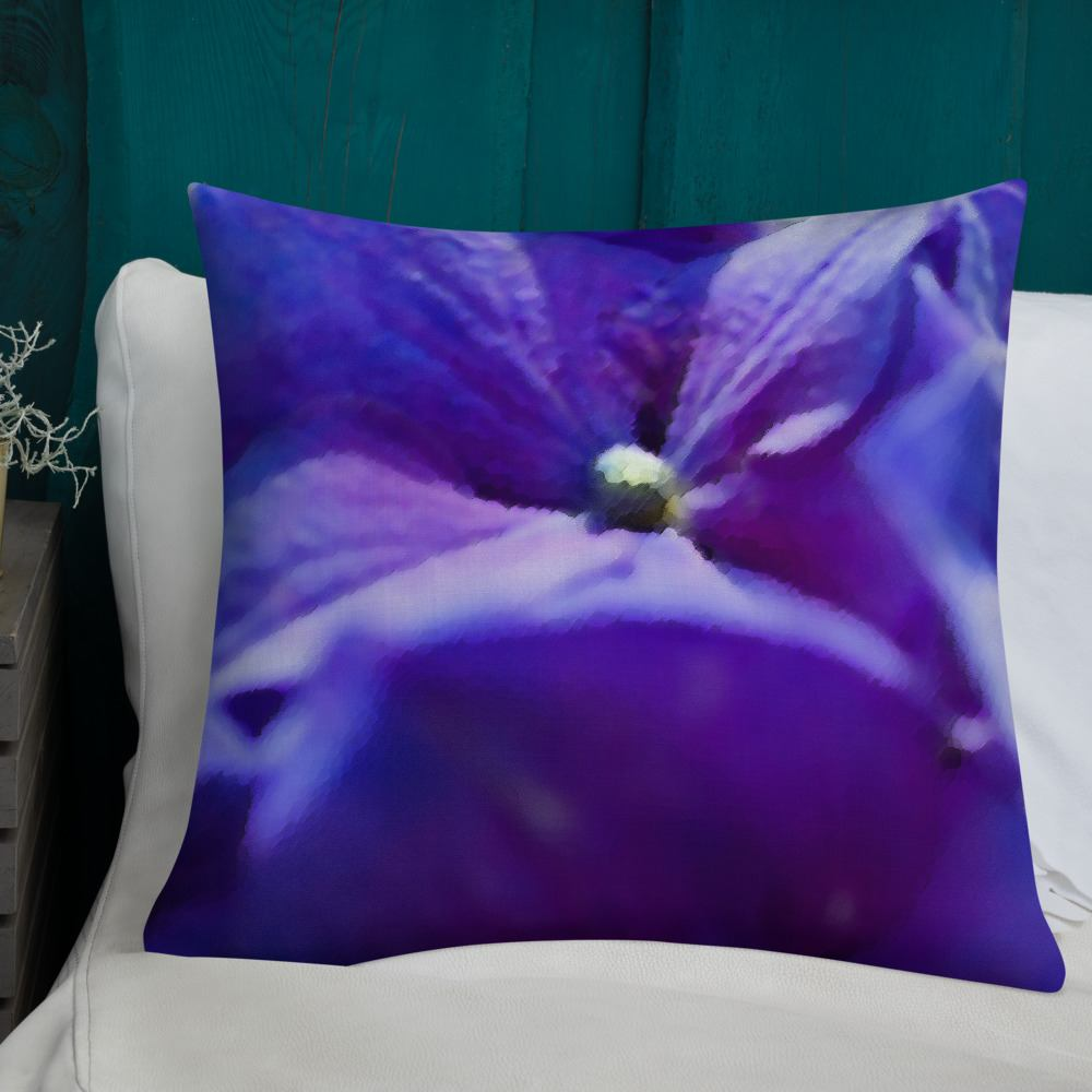 Splash of Purple Hydrangea Decorative Throw Pillow 22x22