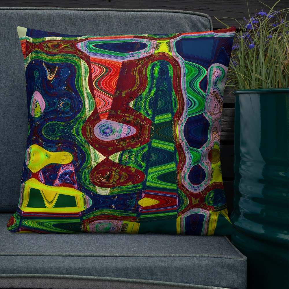 Mind Blown Decorative Throw Pillow 22x22